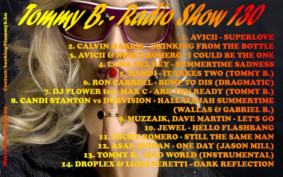 Tommy B. - Radio Show 130 Radio_show_130