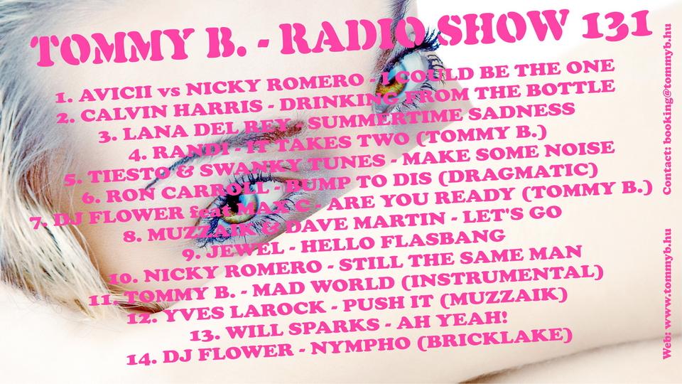Tommy B. - Radio Show 131 Radio_show_131