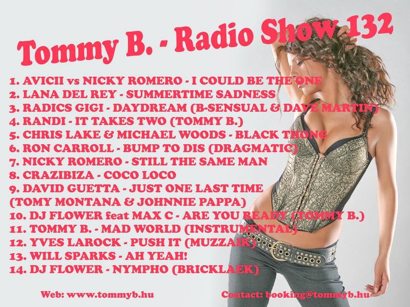 Tommy B. - Radio Show 132 Radio_show_132