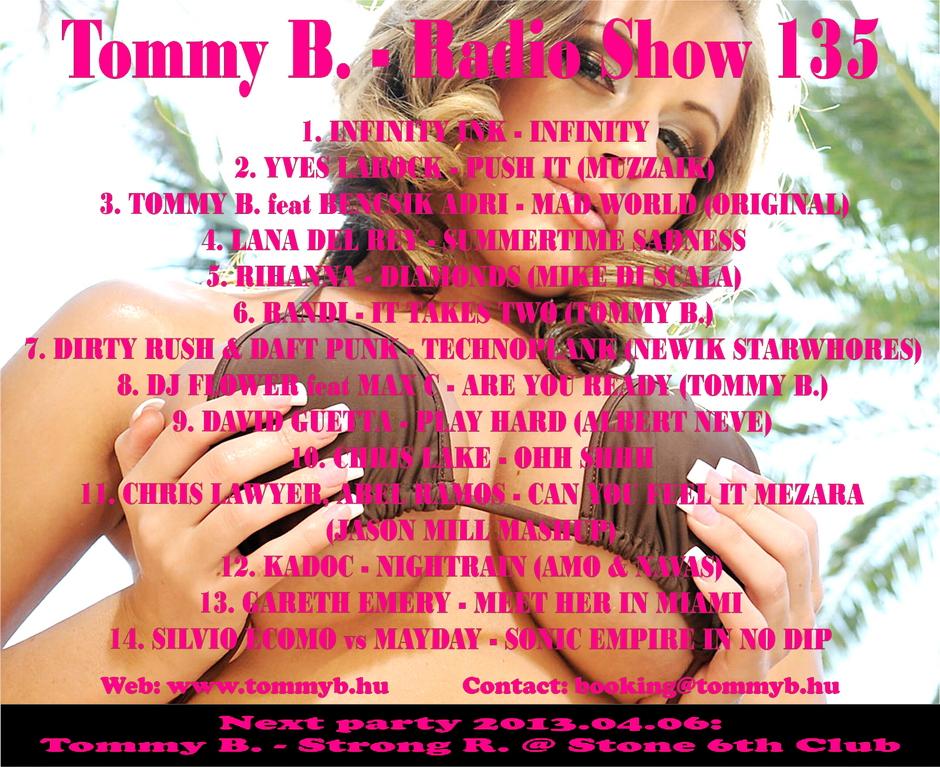Tommy B. - Radio Show 135 Radio_show_135