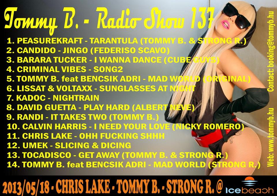 Tommy B. - Radio Show 137 Radio_show_137