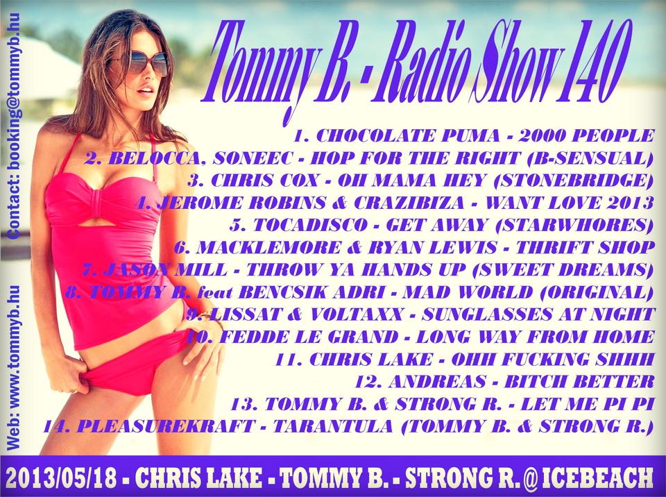 Tommy B. - Radio Show 140 Radio_show_140