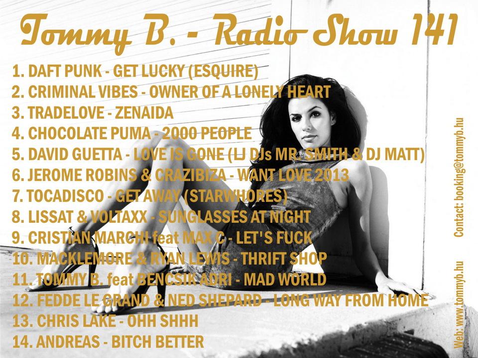 Tommy B. - Radio Show 141 Radio_show_141