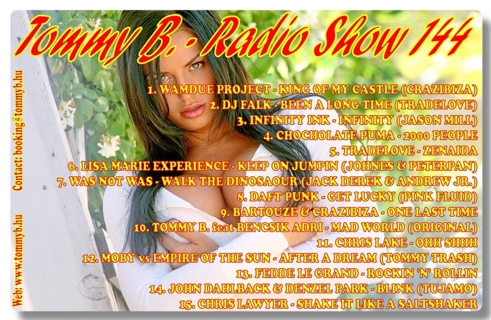 Tommy B. - Radio Show 144 Radio_show_144