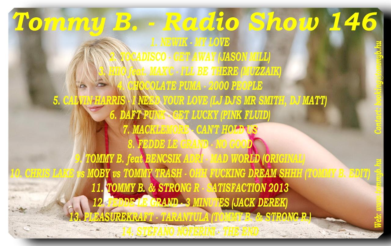 Tommy B. - Radio Show 146 Radio_show_146
