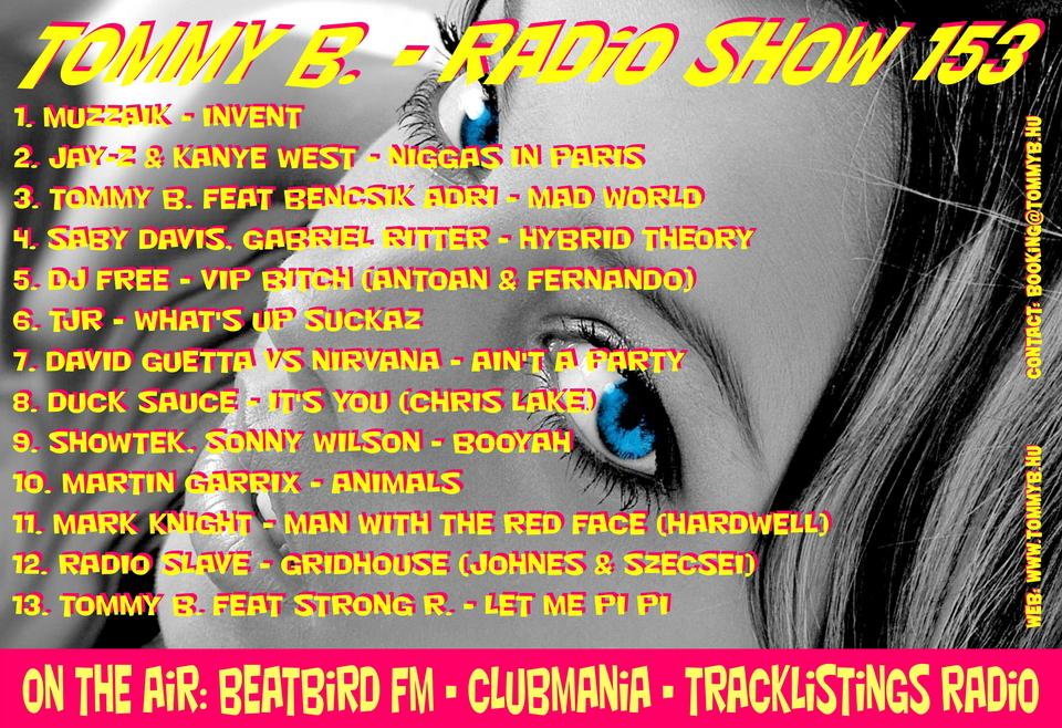 Tommy B. - Radio Show 153 Radio_show_153