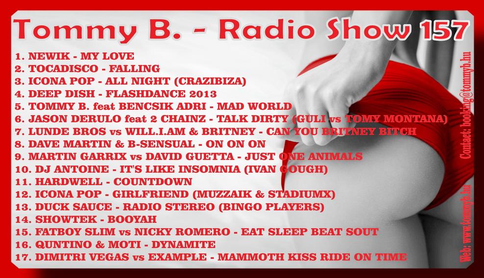 Tommy B. - Radio Show 157 Radio_show_157