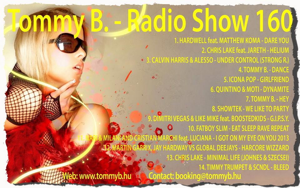 Tommy B. - Radio Show 160 Radio_show_160