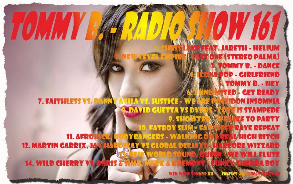 Tommy B. - Radio Show 161 Radio_show_161