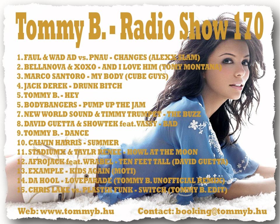 Tommy B. - Radio Show 170 Radio_show_170