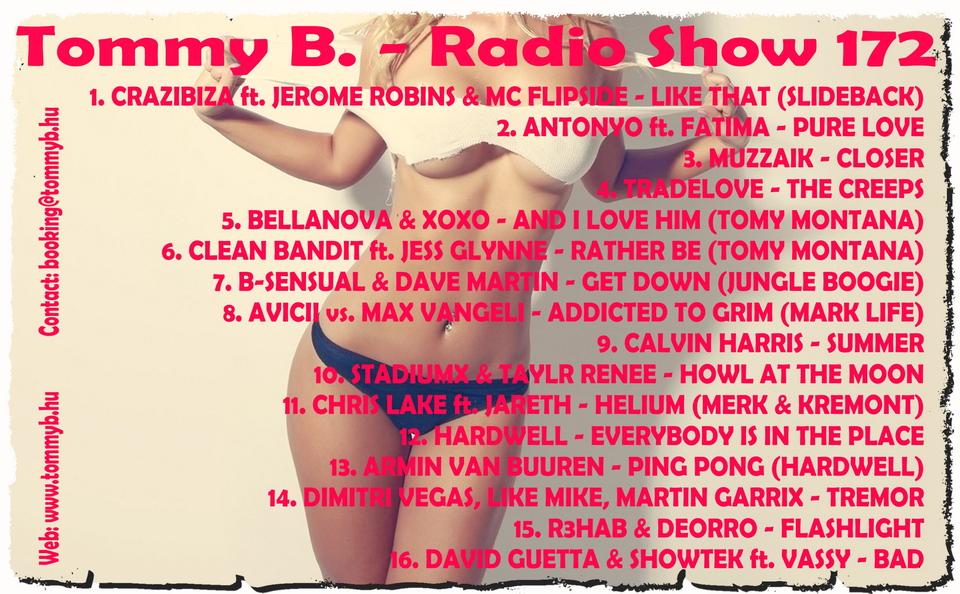 Tommy B. - Radio Show 172 Radio_show_172
